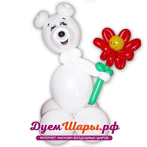 Фигура Медведь с цветком