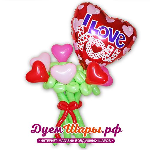 Фигура Букет сердечек с большим сердцем
