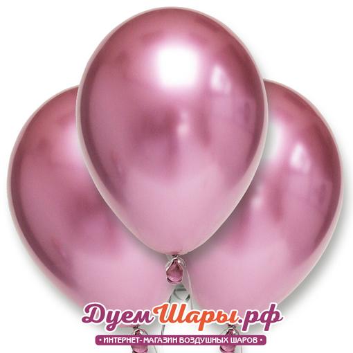 Шар хром Розовый