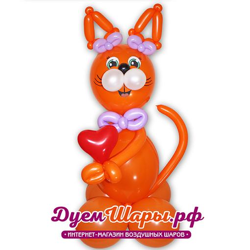Фигура Кошечка с сердцем