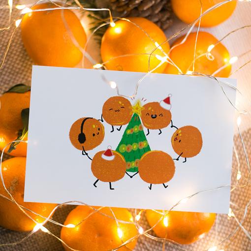Открытка Хоровод апельсинчиков