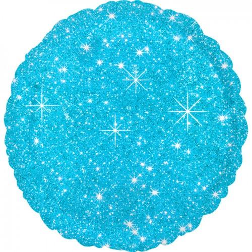 Круг Блестящий Голубой