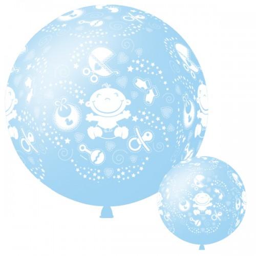 Большой шар С днем рождения малыш Голубой