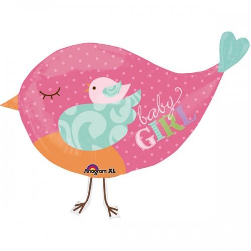 Птичка розовая