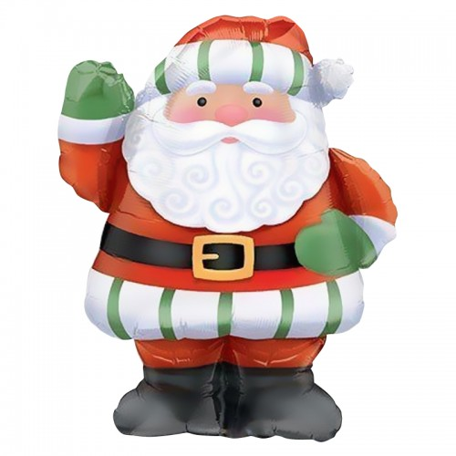 Санта с большой бородой