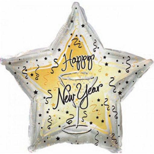 Звезда Happy New Year бокал